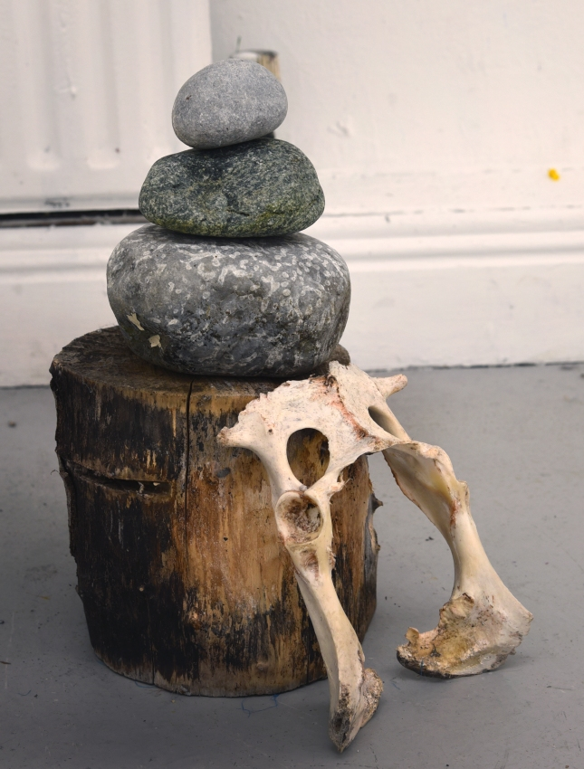 INSTALLATION_Two Entanglements and a Cairn_7_A Where I Might Rest My Bones